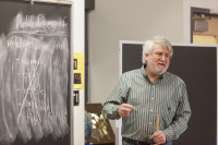 Professor of Geology Carl Mendelson, a paleontologist and expert in microfossils, joined Beloit i...