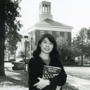 Ying Pang'90, shown in 1989, came to Beloit through the college's historic exchange program with Fudan University.