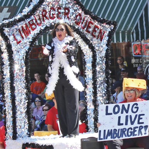 Stephanie Klett'89 will reprise her role as Limburger Queen during Cheese Days in Monroe, Wis.,...