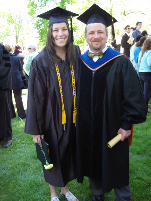 Professor of Sociology Charles Westerberg'94 mentored Sidra Montgomery'09, who pursued a care...