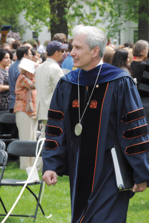 President Scott Bierman at commencement
