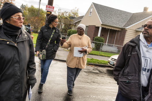 From left: Shirley Minor, Raina Croff'99, Deloris Griggs, and Cecil Prescod on a recent walk in...