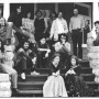 Round Table staffers on front porch of the Pumpkin House in 1973.