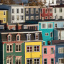 """St. John, Newfoundland, Canada is a beautiful city! The houses are all painted in bold colors. A nice place to visit."""