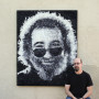 """Touch of Grey,"" a large-scale mosaic portrait of Jerry Garcia, is one of Kevin Champeny's recent works of art."