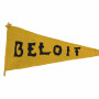 Mixed in among the documents and photographs you'd expect to find in Beloit's Archives are any number of unusual objects, such as beanies, banners, busts, and other Beloit ephemera from long ago, not to mention examples of vintage college swag. The exact origin of this bright felt pennant is unknown, but Archivist Fred Burwell'86 speculates this expression of Beloit spirit has been around for at least a century.