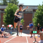 Eva Laun-Smith'21 competes in the 2018 NCAA Division III Outdoor Track and Field Championships Event - Women's Triple Jump.