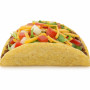 Beef Taco isolated on white - clipping path included (excluding the shadow)