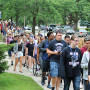 New students make their way to Eaton Chapel for Convocation, which marks the beginning of the academic year.