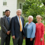 The 2018 DSC recipients with President Scott Bierman. From left: Raj Fernando'93, Bierman, Marty Dyer Feltus'68, and Rosemary Widmann Gruber'68. Photo by: Amanda Reseburg.