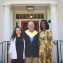 From left, Erika Weiss Moczulewski'09, Tom Casadevall'69, and Dr. Sudha Pavuluri Quamme'94.