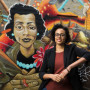 Raina Croff's work as an assistant professor of neurology at the Oregon Health & Science University brings her interests in African-American history together with medical anthropology. She's standing in front of a mural featuring a portrait of Coretta Scott King and other black women leaders at the Black United Fund of Oregon, located in one of the neighborhoods where the SHARP study takes place.
