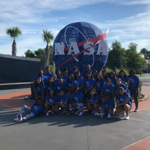 Beloit College Help Yourself Pre-Collegiate students visited the Kennedy Space Center in the Summer of 2019. This visit was in honor of Karyme Montiel-Reyes, who was a Help Yourself student who passed away earlier this year from cancer. She had hopes of becoming an astronaut with NASA.